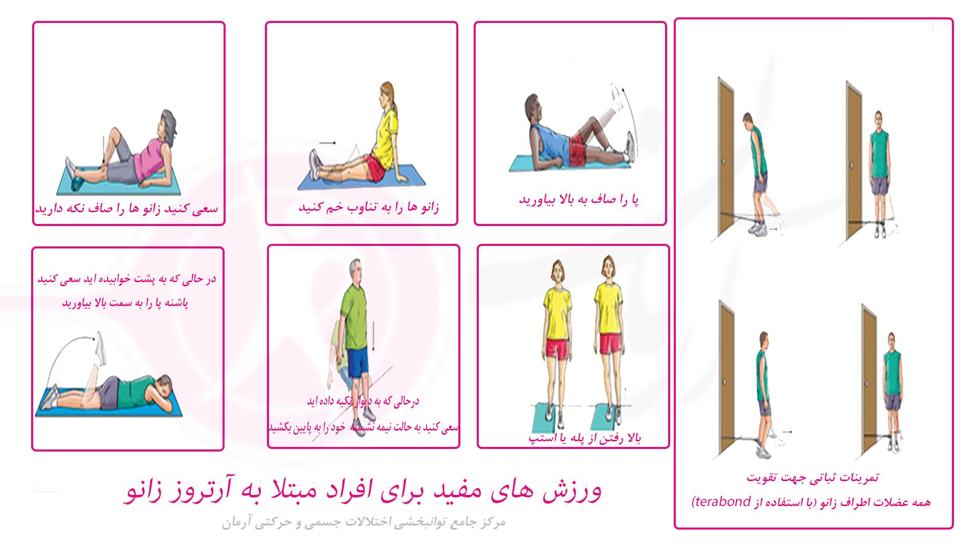 ورزش های مفید برای افراد مبتلا به آرتروز زانو